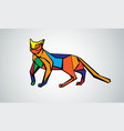 image of an cat design on a white vector image vector image