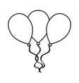 isolated balloon icon vector image vector image