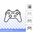 joystick simple black line icon vector image vector image