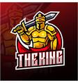 king esport mascot logo design vector image vector image