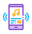 listening music song in smartphone icon vector image vector image