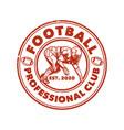 logo design football professional est 2020 vector image vector image