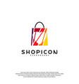 love shop logo template design vector image vector image