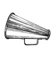 megaphone sketch single vector image vector image