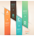 Modern origami options banner vector image vector image