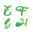nature fonts symbol vector image vector image
