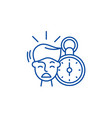 no time line icon concept no time flat vector image vector image