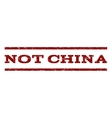 Not China Watermark Stamp vector image vector image