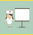 nurse giving medical presentation vector image vector image