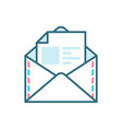 open mail flat icon vector image