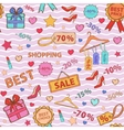 Pattern on theme shopping vector image vector image