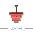 pendant lamp lighting furniture line vector image