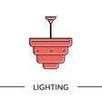 pendant lamp lighting furniture line vector image vector image