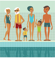 people in swimming pool vector image