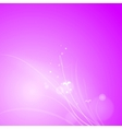 Pink abstract design vector image vector image