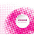 pink background with circular halftone dots vector image vector image