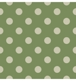 Polka dot seamless pattern on green background vector image vector image