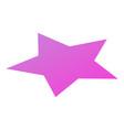 purple star icon isometric style vector image