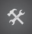 repair sketch logo doodle icon vector image vector image