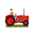 Retro farm tractor icon Cartoon vector image vector image