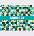 seamless geometric pattern set bauhaus design vector image vector image