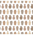 seamless pattern with pottery on white background vector image