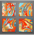 set cards with trendy colorful marble swirls vector image vector image