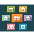 set colorful cottage buttons vector image vector image