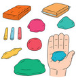 set of clay for kid vector image vector image