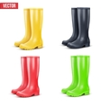 Set of rain boots vector image vector image