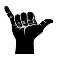 shaka hand sign 002 vector image