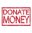 stamp text donate money vector image vector image