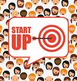 start up design vector image vector image