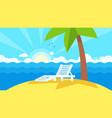summer vacation landscape vector image