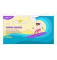 surfing courses concept vector image