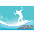 surfs up vector image vector image