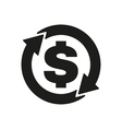 The currency exchange dollar icon Cash and money vector image