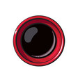 top view drawing of soy sauce bowl chinese vector image vector image