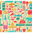Travel background Vacations Beach resort seamless vector image vector image