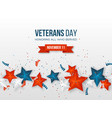 veterans day greeting card vector image vector image