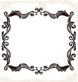 vintage retro frame Decorative background vector image vector image