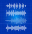 white music waves collection - musical pulse on vector image vector image