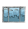 Window interior building urban view vector image