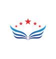 wing logo symbol for a professional designer vector image vector image