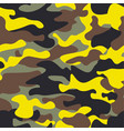 seamless fashion wide woodland and yellow camo vector image
