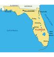 Florida - map vector image