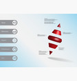 3d infographic template with two spike cone vector image vector image