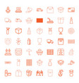 49 packaging icons vector image vector image