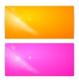 Abstract two banner vector image