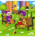 animals resting in park vector image vector image
